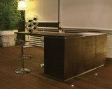 現代ホーム家具のガラス繊維の食器棚