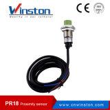 Pr18 Sensor de proximidade de indutância de metal impermeável