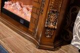 Cheminée électrique de découpage antique de chaufferette en bois d'éclairages LED avec du ce (330B)
