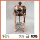 Pressa del caffè del POT del tè del creatore di caffè di colore di rame della pressa del francese dell'acciaio inossidabile Wschsy003