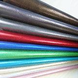 靴または袋(HS-M018)のためのよい伸縮性の瑪瑙ラインPUの革