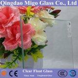 4mm clair et Ultra Clair Low Fer Float serre en verre