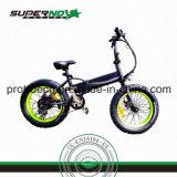 전기 자전거를 접히는 뚱뚱한 타이어