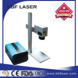 máquina do marcador do laser da fibra 20W para PVC, gravador da placa de identificação do metal