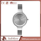 Reloj blanco del cuarzo del acero inoxidable de la manera con los 30m impermeables