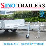 10X5 volledig de Aanhangwagen van Tandme van de Las met Rem