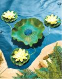 Eau Floating Lotus Solar Light pour la décoration de piscine de jardin