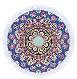 100%年の綿のベロアによって印刷される曼荼羅の安いビーチタオル