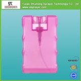 pulverizadores do Sanitizer da mão do cartão de crédito 20ml/frasco da névoa do perfume do bolso cartão do crédito/atomizador plástico do perfume