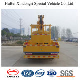 caminhão aéreo da plataforma da rotação hidráulica de 16m Dongfeng 360