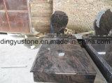 Pietra tombale di marmo europea/russa/americana del granito di stile/con progetta