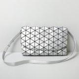 Saco de ombro Rhombic de prata do Hasp da geometria de Matt (A0106)