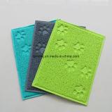 거품 역행 PVC 코일 애완 동물 고양이 배설용상자 매트 공급 사발 접시 Placemat