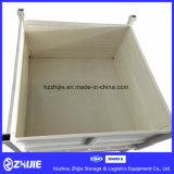 Großer Stapel geschweißter faltbarer Stahlladeplatten-Behälter