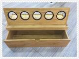 Коробка монетки коробки и сборника выставки 5 монеток Bamboo