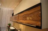 Cabinas de cocina de madera del grano del alto lustre moderno