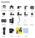 """処置のカメラ4k WiFi完全なHD 1080P DVR 12MP 2 """" LCDは30mのスポーツのカメラを防水する"""