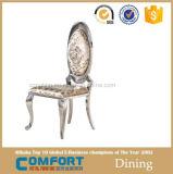Cadeiras de couro italianas Stackable da sala de jantar do ferro feito de Congling