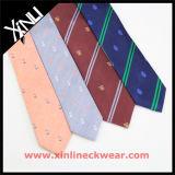 Jacquard tecido dos homens logotipo feito sob encomenda ou gravata impressa do poliéster para a escola