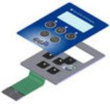 Wasserdichter Membranschalter mit Metallabdeckung, Druckknopf-Membranschalter