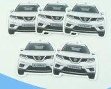 Los fabricantes del ambientador de aire venden al por mayor el ambientador de aire de papel colgante de encargo barato del coche de la promoción para el coche