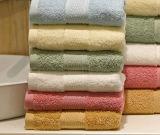 Essuie-main 100% de face colorés d'hôtel de coton