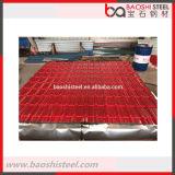 Hojas coloreadas decorativas acanaladas usadas acero de Baoshi para los precios del material para techos