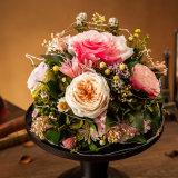Rectángulo de regalo verdadero natural de la flor del 100% Rose para el regalo de cumpleaños de la tarjeta del día de San Valentín