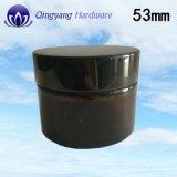 50g/50mlガラスの瓶のための53mm/400軽く黒いアルミニウム帽子
