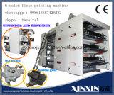 6 Farben-Riemenantrieb-Inverter-Steuerflexographische Drucken-Maschine