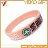 Wristband del silicone di marchio stampato matrice per serigrafia di pollice di abitudine 1/2 per la promozione (XY-SW-001)