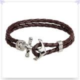 De Armband van het Leer van de Juwelen van het Leer van de Juwelen van het roestvrij staal (LB282)