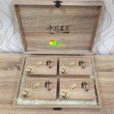 クラシック4カラー木の茶パッキングアートペーパーのギフト用の箱