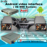 Quad-Core Caja de Navegación Android, actualizado Multimedia Interface de video para Audi Soporte de descarga de aplicaciones