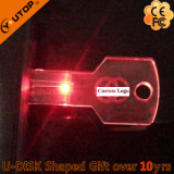 LED Light Crystal Key USB Flash Drive para presentes brilhantes (YT-3213-09)