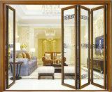 Дверь двери складчатости закрепленности воздуха/ядрового доказательства алюминиевая Bi-Fold для дома