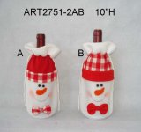 """9 """" H Santa e decorazione di natale del pupazzo di neve con Paddles-2asst"""