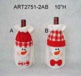 Decorazione di natale del pupazzo di neve e della Santa con legno Paddles-2asst
