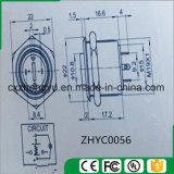 interruptor de tecla de 19mm com luz do diodo emissor de luz e função momentânea (cabeça lisa elevada)