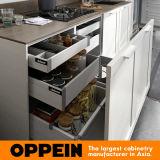 360cm de largura White Thermofoil Acabamento Gabinete de cozinha padrão (OP17-PP02)