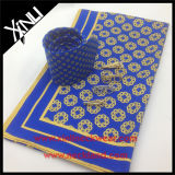Laço impresso seda dos homens de 100% com lenço de harmonização