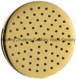 Pista de ducha fija de cobre amarillo clásica antigua Zf-8008