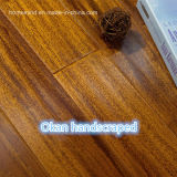 Plancher en bois parquetant en bois dur d'Okan /Iroko Handscraped