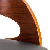 Présidence dinante en cuir Wt-2893-4 de Faux de Bentwood plaquée rétro par noix