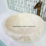 Bassin de marbre jaune égyptien de salle de bains (surface normale)