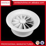 Difusor de redemoinho redondo de lâminas ajustáveis de ventilação com ventilação