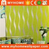 La vente en gros bon marché KTV de papier peint des prix mure le papier de mur lavable de PVC de décoration