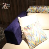 Blauw en White Fabric Sofa met Cushion (805B)