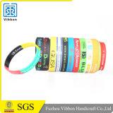 Förderung-Geschenk-SilikonWristband mit der Farbe gefüllt