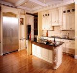 フレームのドアの純木の食器棚